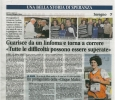 Andrea Vidotto - Guarigione da linfoma Giornale di Seregno Desio 31.01.2017