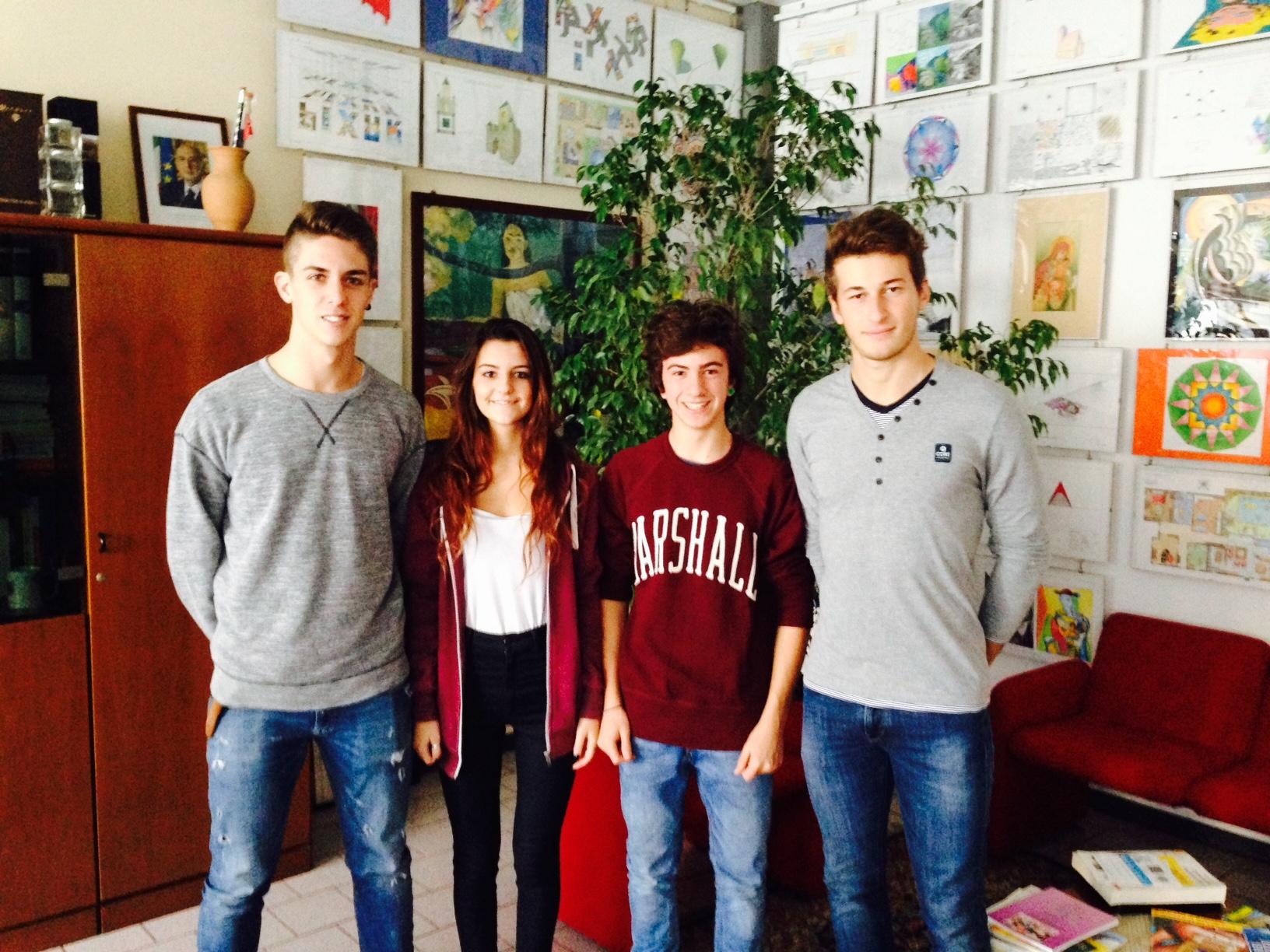 Studenti  Consiglio di Istituto anno scolastico 2014-2015