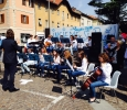 Esibizione dell'orchestra del Liceo durante la festa del volontariato del 12/04/2015